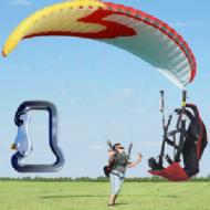 UKPPG SKY EOLE 12m Training Wing Paraglider - Sport Pack - ( Ground Training Practice Wing )